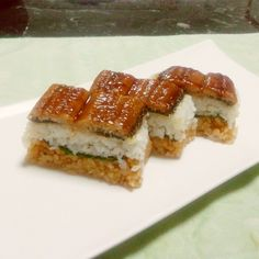 鰻の押し寿司