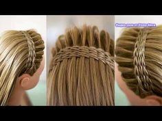 The French Crown Braid tutorial! Dance Hairstyles, Summer Hairstyles, Cool Hairstyles, Braid Crown Tutorial, Braided Hairstyles Tutorials, Pinterest Hair, Hair Transformation, Hair Photo, Hair Videos
