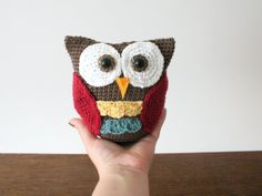 Amigurumi Owl Crochet Pattern by LittleDoolally on Etsy