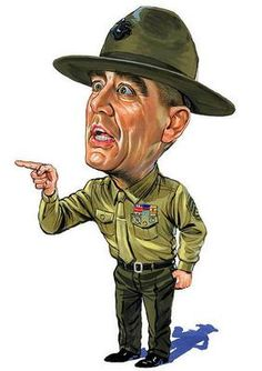 Lee Ermey As Gunnery Sergeant Hartman by Art , R. Lee Ermey As Gunnery Sergeant Hartman Canvas Print by Art. Funny Caricatures, Celebrity Caricatures, Cartoon Art, Cartoon Characters, R Lee Ermey, Drill Instructor, Caricature Drawing, Military Humor, Usmc Humor