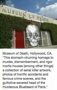 Museum of Death Museum Of Death, Criminal Profiling, Rigor Mortis, Famous Serial Killers, Facts About People, Memes Of The Day, Before I Die, Haunted Places, Places To Go