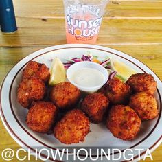 """#Delicious conch fritters from Sunset House in Grand Cayman Islands #nomnom #food #foodie"""""""