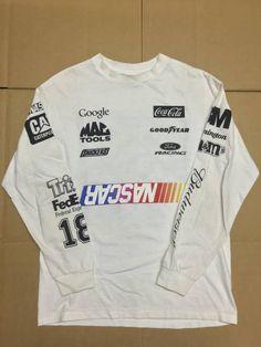 f11eb04d Heron Preston BOOTLEG HOME DEPOT NASCAR DEFECT LONGSLEEVE TEE T SHIRT WHITE  SZ M Size US