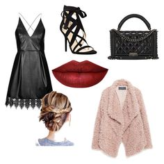 """""""Leather❤️"""" by basak-aslan ❤ liked on Polyvore featuring Topshop, Nine West, Chanel and Zara"""