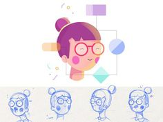 Ubergrad Character: Lina - via @designhuntapp