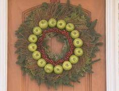 Watch: How to Make an Apple Christmas Wreath