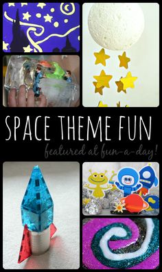 Activities for a space theme featured at Fun-A-Day!