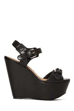 Shoe Cult Buckle Down Wedge at Nasty Gal