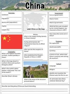 Human Body Worksheets For Kindergarten Word China Map Geography Worksheet  Free To Print  Social Studies  Double Bar Graph Worksheets Excel with Presidents Worksheets China Worksheet  This Worksheet Contains  Questions A Map To Label And  An Time In Spanish Worksheets Excel