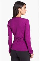 Anne Klein Faux Wrap Pullover Sweater in Purple (Mulberry) - Lyst