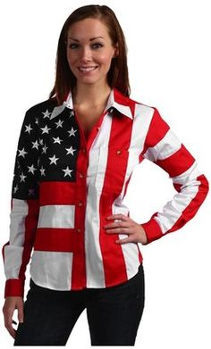 Scully Flag Shirt Red White Blue Apparel Scully