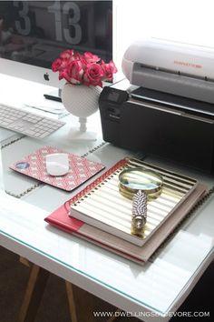 DIY nailhead door desk