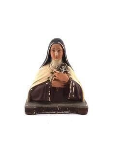 Antique Religious Saint Therese Statuette
