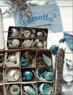 vintage mercury glass ornaments