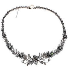 Victorian Diamond Floral Necklace