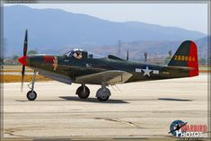 Planes of Fame Airshow 2013: Day 1.Bell P-63A King Cobra.Developed from P-39 Airacobra.Majority served under leand lease to Russian Red Air Force.