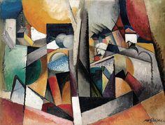 Albert Gleizes, 1914, Paysage Cubiste (Cubist Landscape), oil on canvas, 97 x 130 cm, published in Der Sturm, 5 October 1920
