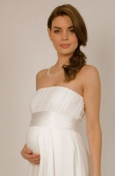 Greek Style White Satin Strapless Ruffles Wedding Dresses Of A-line With Ankle-length Train