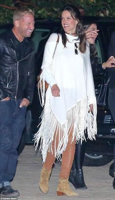 Be a boho babe in Saint Laurent boots like Alessandra #DailyMail Click 'Visit' to buy now