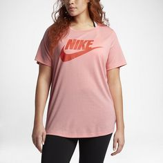 Nike Sportswear Essential (Plus Size) Women's T-Shirt. Nike.com ($50) ❤ liked on Polyvore featuring nike