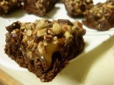 I make these brownies a lot. Gooey caramel, chocolate and nuts packed into the perfect sweet treat.