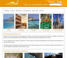 """Canaryactive.com Desarrollo de la página web de la agencia de viajes """"Canary Active"""". Esta web está adaptada a los móviles utilizando el sistema responsive menos los apartados que contienen iframes. #web_design #web #paginas_web #web_las_palmas #web_canarias #paginas_web_las_palmas #paginas_web_canarias"""