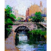 THE BASIN, CASTLEFIELD, MANCHESTER Fine Art Print from a painting by E Anthony Orme