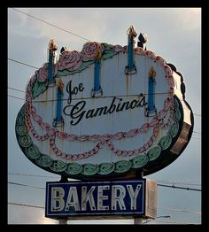 *Joe Gambino's Bakery neon sign - Metairie, LA.