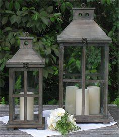 Vineyard Wood Lanterns | Town & Country Event Rentals