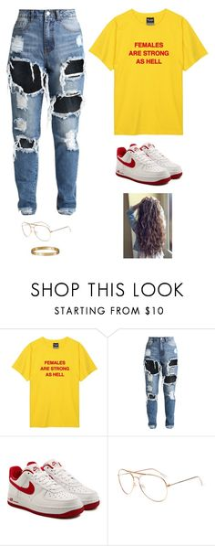 """""""Untitled #5915"""" by twerkinonmaz ❤ liked on Polyvore featuring NIKE and Cartier"""
