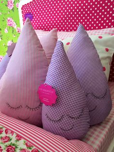 Our sleepy raindrop pillows are perfect gifts for baby showers. Available in three size and a variety of fabrics.