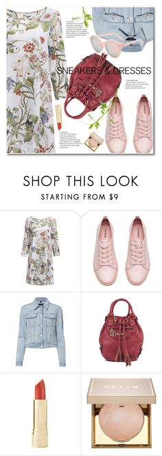 """""""Sporty Chic: Sneakers and Dress"""" by svijetlana ❤ liked on Polyvore featuring H&M, J Brand and Stila"""