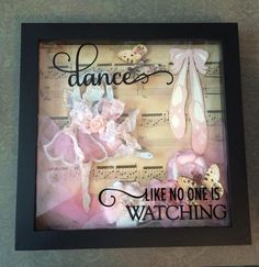 Reneabouquets Guest Design Artist~Amy Davis created this beautifully sweet dance themed shadow box using the following items from the Reneabouquets.com and Reneabouquets Etsy Shop: Beautiful Ballerina (this is a piece that I only create in a limited number at a time and right now they are out of stock) Victorian Velvet Glitter Glass Flowers Love Letters Butterflies Tim Holtz Distress Ink  Find your style here: http://www.Reneabouquets.com  or here: https://www.etsy.com/shop/Reneabouquets