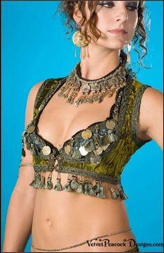Vests Clothing - Velvet Peacock Designs: Tribal BellyDance costumes, Gypsy BellyDance Costumes, Ghawazee Coats