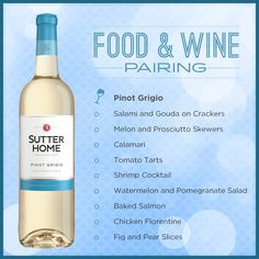 Sutter Home Pinot Grigio is the perfect winefor game-day parties!