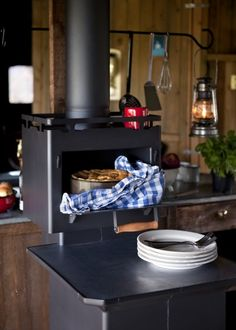 Cook-on/in wood oven