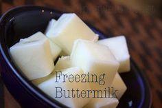 Recipes We Love: Freezing Buttermilk