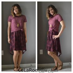 How to style a LulaRoe Carly dress... Here shown paired with a Classic Tee.   Shop here: https://www.facebook.com/groups/LularoeKaraMiller/