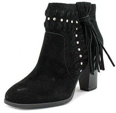 INC International Concepts Jade Women Round Toe Leather Black Heels.