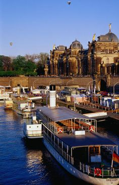 Elbe River, Dresden  Barges and ferries moored at Bruhische Terrase on the famous Elbe River        Read more: http://www.lonelyplanet.com/germany/saxony/dresden/images/elbe-river-dresden$6919-7#content#ixzz1n4dHl2ZI
