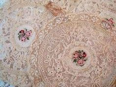 Lace Doilies with Floral Centres ....