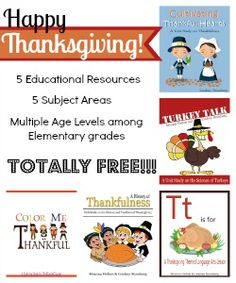 5 FREE Thanksgiving Lessons and Activities! Easy to do with multiple ages!  Thanksgiving FREEBIE Lessons & Printables #1 of 5 - The Road To 31