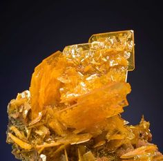 Wulfenite, San Francisco Mine, Sonora, Mexico, Small Cabinet, 7.0 x 7.0 x 4.5 cm, Wulfenites from this mine are still common on the market, but NOT in quality., For sale from The Arkenstone, www.iRocks.com. For more details on this piece and others, visit http://www.irocks.com/minerals/specimen/41900
