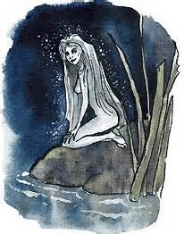 An Asrai is an aquatic fairy in English folklore. They stand between 2-4 ft tall and are shy.  They are very beautiful and look young although they are actually hundreds of years old.