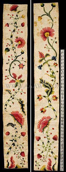 Image detail for -Petticoat Border, Crewel Embroidery, 18th Century, Feature735