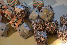 Guirlande lumineuse en origami   Lluthiel