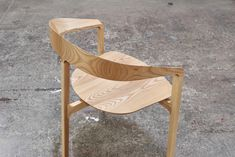 Nice, clean chair design.  With a twist, too!