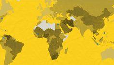 El mapa de las muertes por accidente de tráfico en el mundo