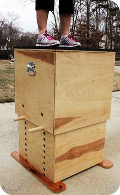 FOR SALE :: adjustable height wooden plyo box -- made by Trendy Toolbox. I could build this myself... good space saver for home gym