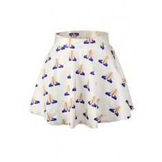 White Hands Print Elastic Waist Mini Flared Skirt (485 UAH) found on Polyvore featuring women's fashion, skirts, mini skirts, white mini skirt, circle skirt, skater skirt, patterned mini skirt and elastic waist skirt